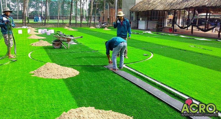 Quy trình thi công sân cỏ nhân tạo