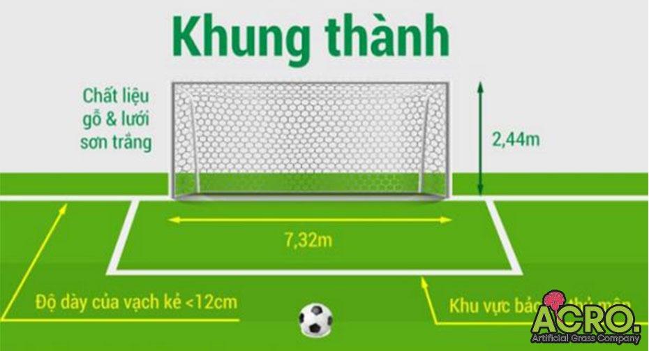 Kích thước cầu môn bóng đá