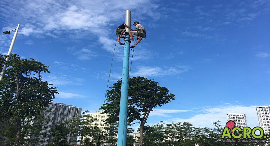 Chiều cao cột đèn sân bóng đá