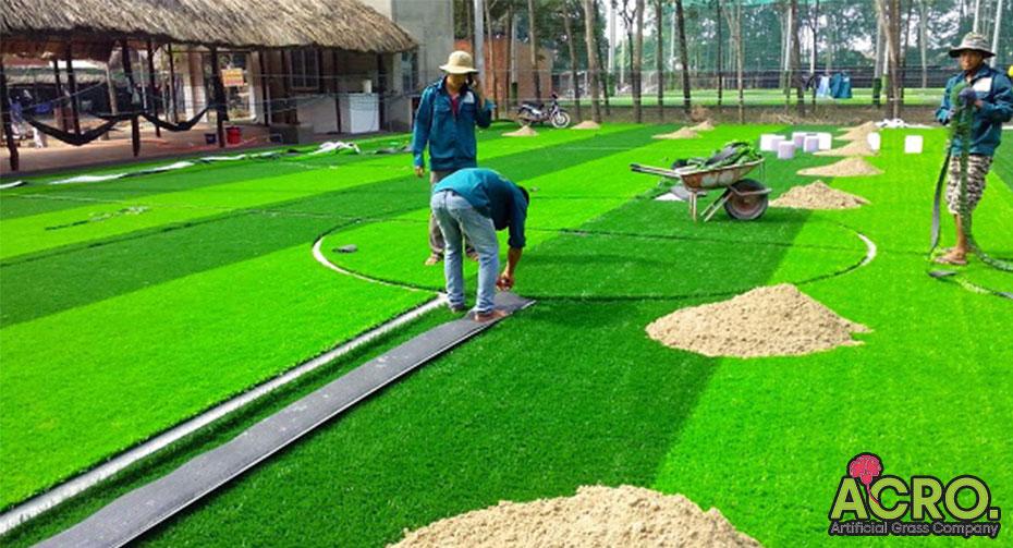 Quy trình làm sân cỏ nhân tạo