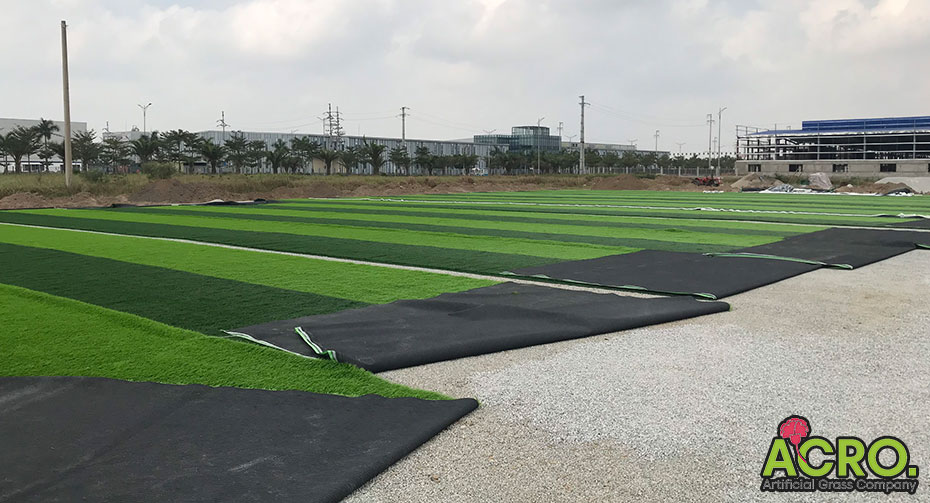 trải thảm cỏ nhân tạo