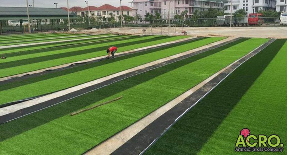Biện pháp thi công sân bóng cỏ nhân tạo