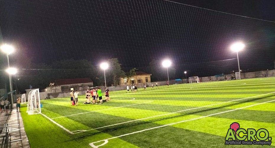 hệ thống chiếu sáng sân bóng nhân tạo