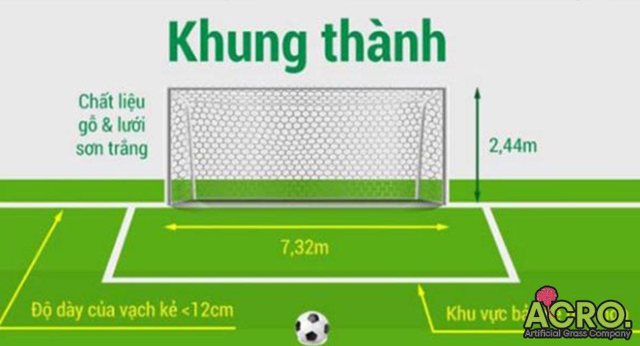 kích thước gôn bóng đá