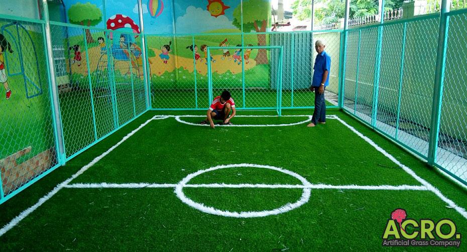 Sân bóng mini cho trẻ mầm non