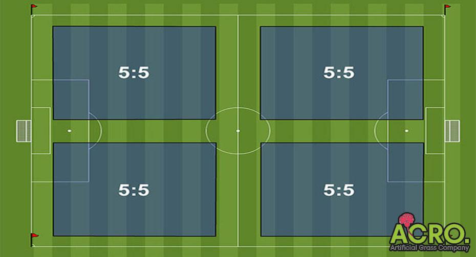 Bản vẽ sân bóng đá mini 5 người